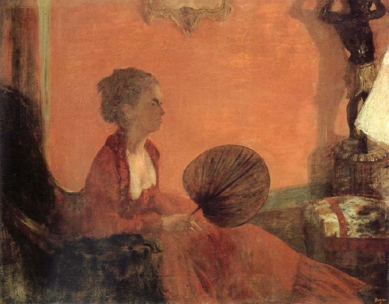 Edgar Degas Madame Camus en rouge oil painting picture